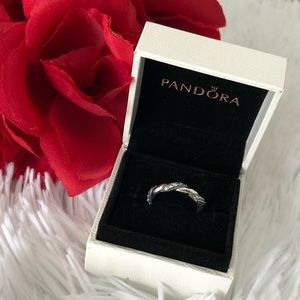 Pandora Ring Ribbon of Love 56